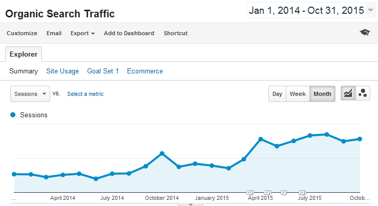Travel E-commerce Website Case Study - Increase Organic Search Traffic by 150%
